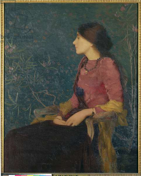 Seated Portrait of Thadee-Caroline Jacquet, later Madame Aman-Jean, before 1892 (oil on canvas)