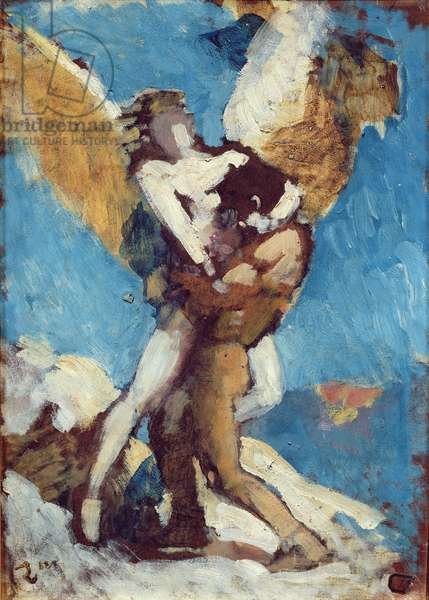 Jacob Wrestling with the Angel, c.1876 (oil on canvas)