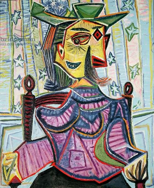 Seated Portrait of Dora Maar (1907-97) 26th October 1939 (oil on canvas)