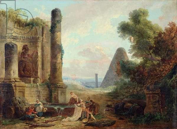 Fountain of Minerva, Rome, 1772 (oil on canvas)
