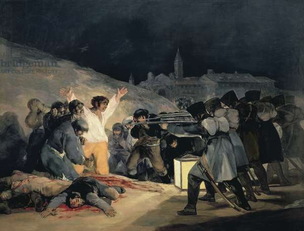 Execution of the Defenders of Madrid, 3rd May, 1808, 1814 (oil on canvas) (see also 155453 for detail)