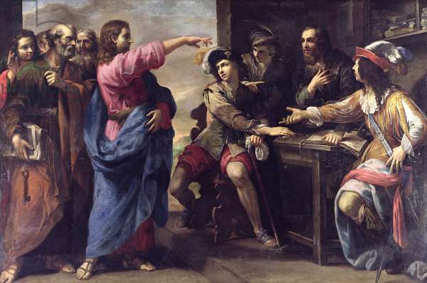 The Conversion of St. Matthew (oil on canvas)