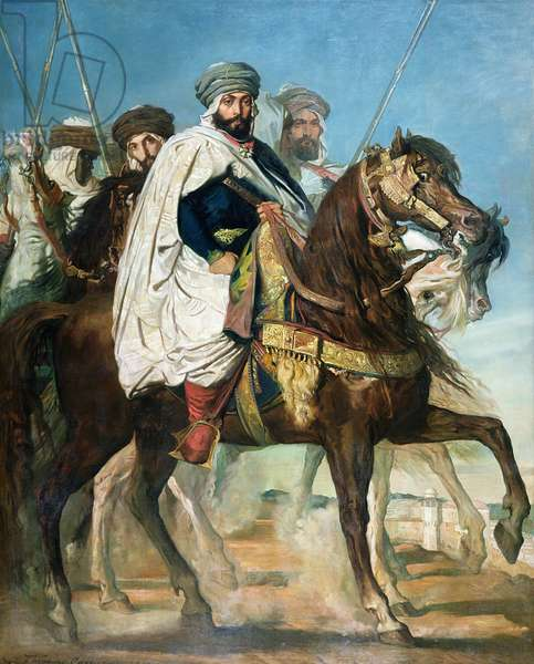 Ali Ben Ahmed, the Last Caliph of Constantine, with his Entourage outside Constantine, 1845 (oil on canvas)