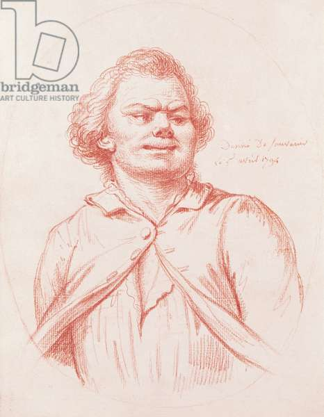 Danton Led to his Execution, 1794 (red chalk on paper)
