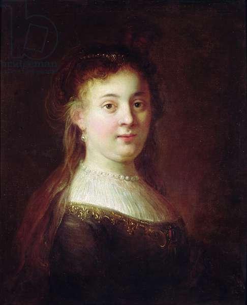Portrait of Saskia van Uylenburch, c.1633 (oil on canvas)