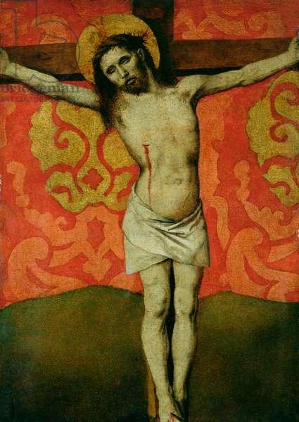 Christ on the Cross, c.1445-50 (oil on panel)