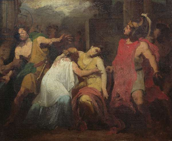 Study for the Death of Lucretia (oil on canvas)