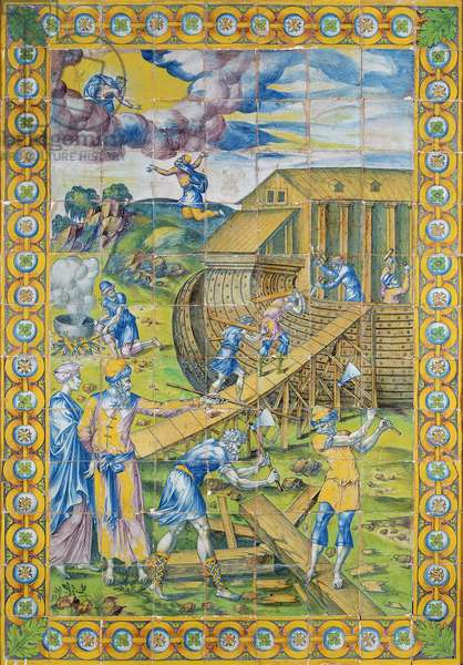 The Story of Noah: the Building of the Ark, Rouen (faience)