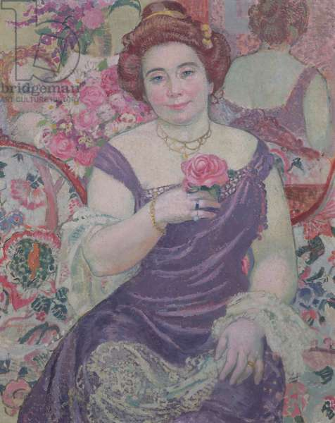 Marthe with a Rose, 1909 (oil on canvas)