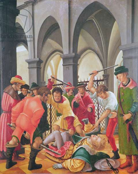 The Martyrdom of St. Florian (oil on panel)