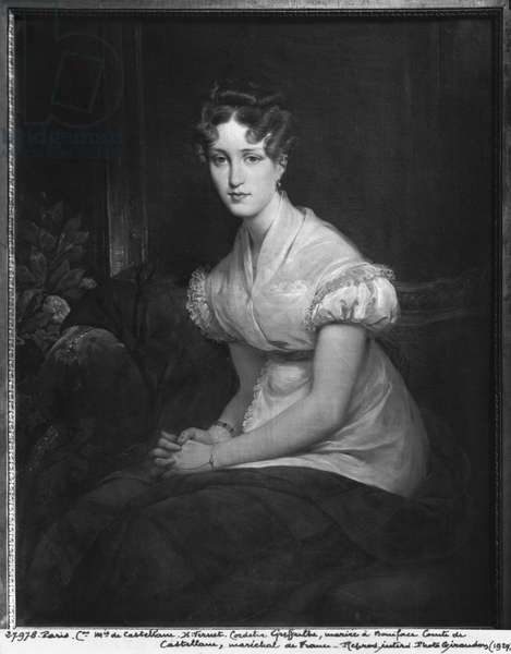 Cordelia Greffulhe (oil on canvas) (b/w photo)