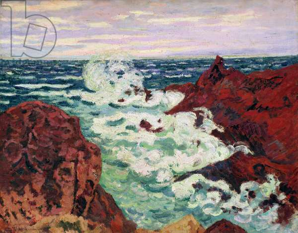 Storm at Agay, 1895 (oil on canvas)