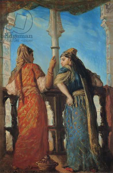 Jewish Women at the Balcony, Algiers, 1849 (oil on canvas)