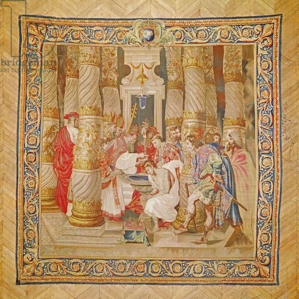 The Baptism of Constantine (wool & silk tapestry)