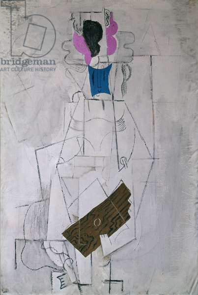 Woman with a Guitar, 1914 (collage)