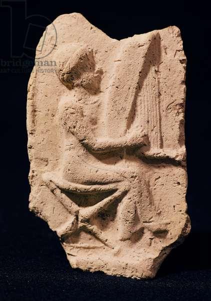 Harp player, 1830-1600 BC (stone)