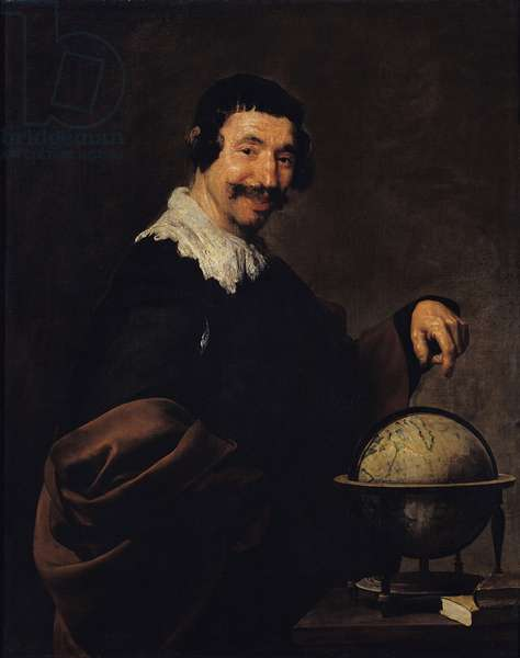 Democritus, or The Man with a Globe (oil on canvas)