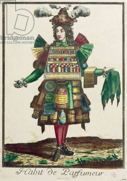 The Perfumer's Costume (colour engraving)