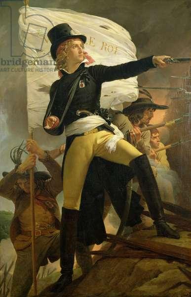 Henri de La Rochejaquelein (1772-94), leader of the revolt in the Vendee, 1817 (oil on canvas)