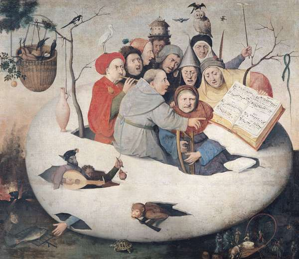 The Concert in the Egg (oil on panel)