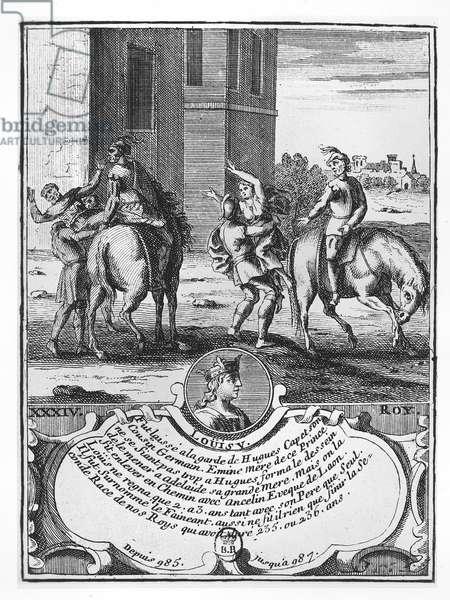 Louis V the Fainéant (engraving)
