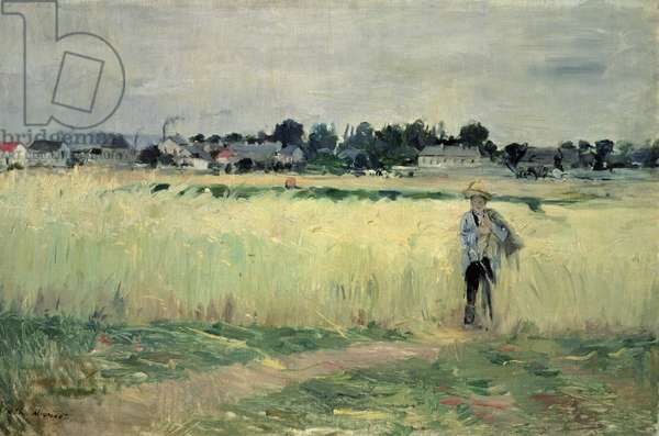 In the Wheatfield at Gennevilliers, 1875 (oil on canvas)