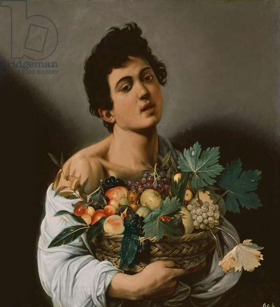 Youth with a Basket of Fruit, 1593-94 (oil on canvas)