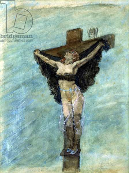 Study for The Temptation of St. Anthony, 1878 (gouache on paper)