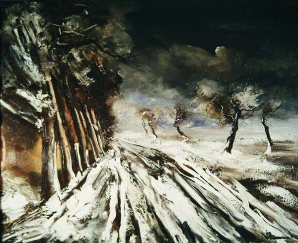 The Snow Storm, first half of 20th century (oil on canvas)