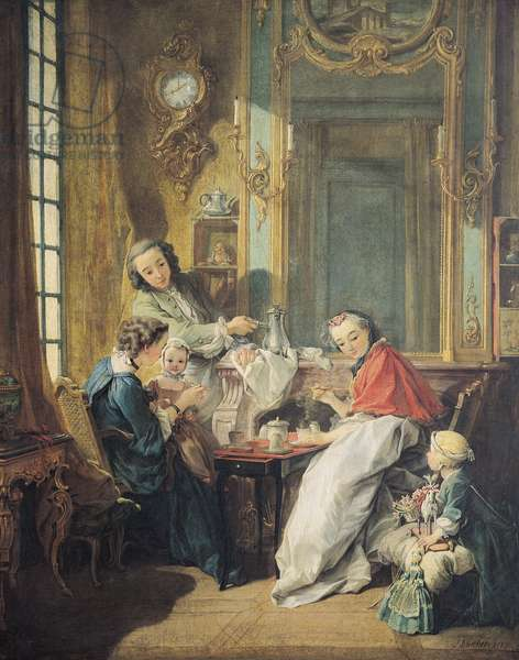 The Afternoon Meal, 1739 (oil on canvas)