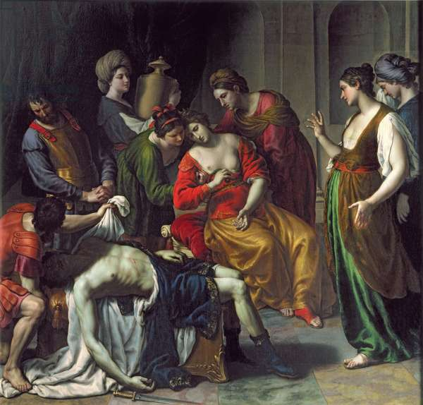 The Death of Anthony and Cleopatra, 1630-35 (oil on canvas)
