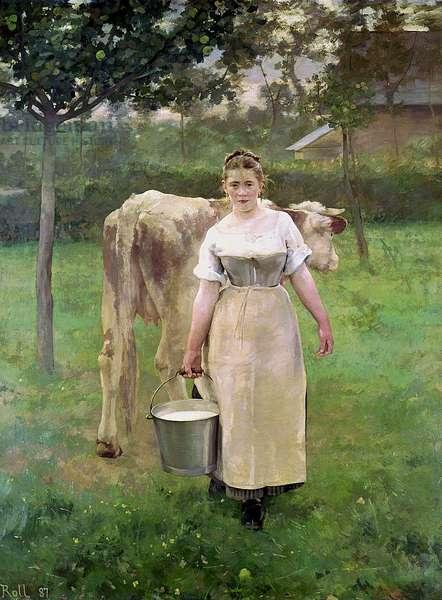 Manda Lametrie, The Farm Maid, 1887 (oil on canvas)