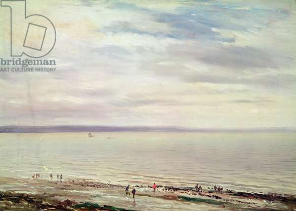 At the Seaside (oil on canvas)