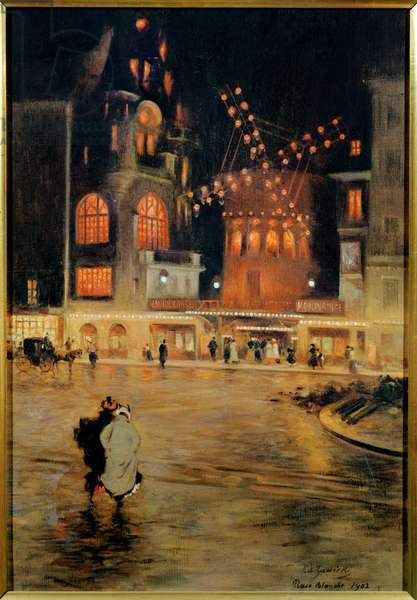 The Place Blanche and the Moulin-Rouge, 1902 (oil on canvas)
