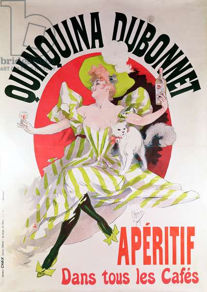 Poster advertising 'Quinquina Dubonnet' aperitif, 1895 (colour litho)