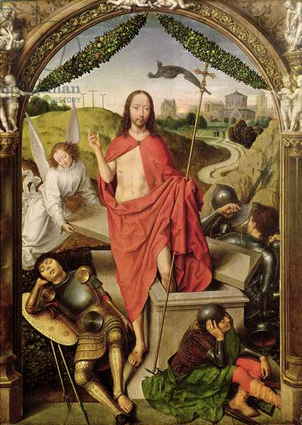 The Resurrection, central panel from the Triptych of the Resurrection, c.1485-90 (oil on panel)