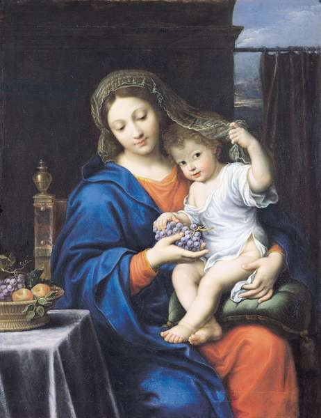 The Virgin of the Grapes, 1640-50 (oil on canvas)