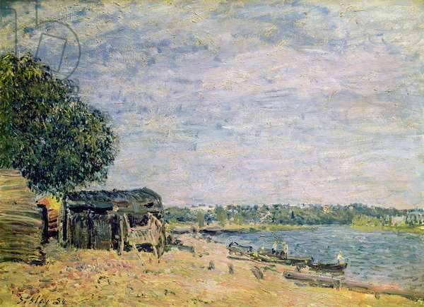 The landscape of Saint-Mammes, 1884 (oil on canvas)