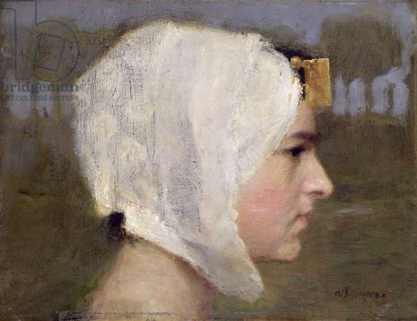 Head of a Woman (oil on canvas)