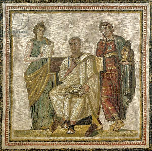 Virgil (70-19 BC) and the Muses, from Sousse (Hadrumetum) (mosaic)