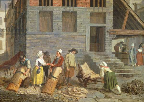 The Tannery (oil on canvas)