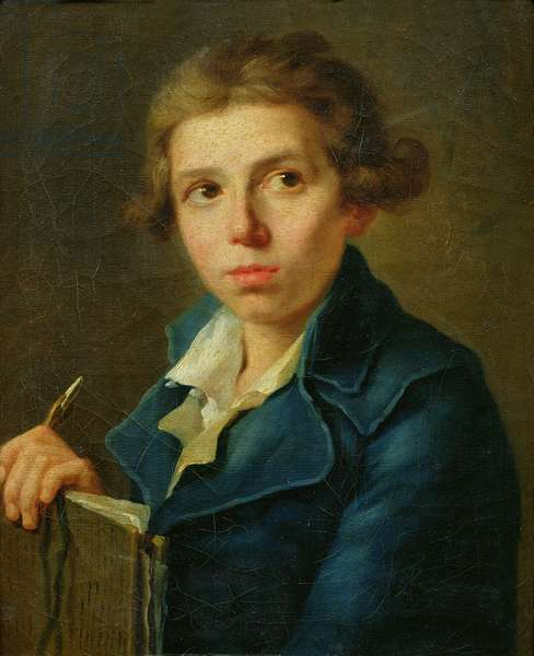 Portrait of Jacques-Louis David (1748-1825) as a Youth (oil on canvas)