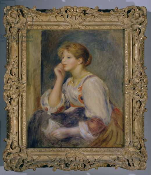 Woman with a letter, c.1890 (oil on canvas)