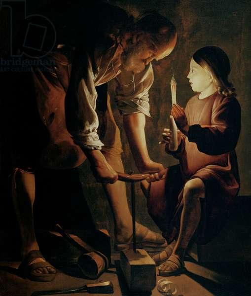St. Joseph, the Carpenter (oil on canvas)