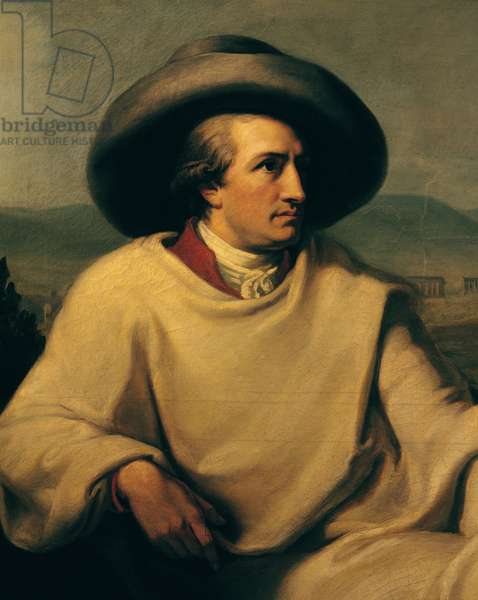 Johann Wolfgang von Goethe (1749-1832) in the Campagna, c.1790 (oil on canvas) (detail)