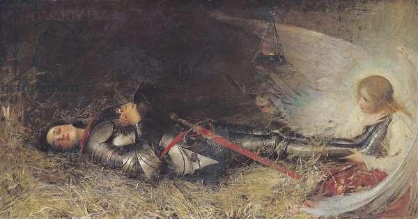 Joan of Arc Asleep, 1895 (oil on canvas)