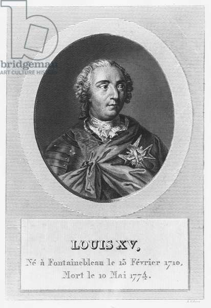 Louis XV, King of France and Navarre (engraving)