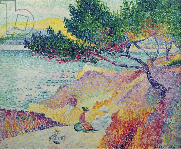 La Plage de Saint-Clair, 1906-07 (oil on canvas)
