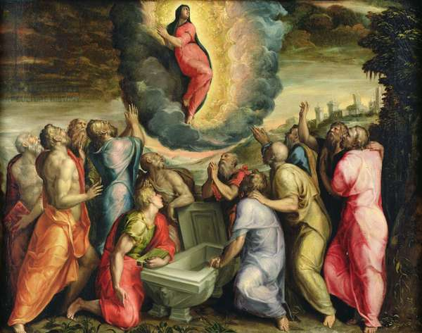 The Assumption of the Virgin (oil on panel)