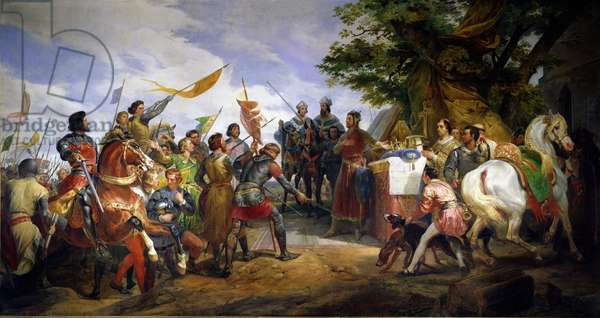 The Battle of Bouvines, 27th July 1214, 1827 (oil on canvas)